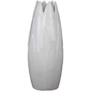 White Small Ceramic Tulip Vase