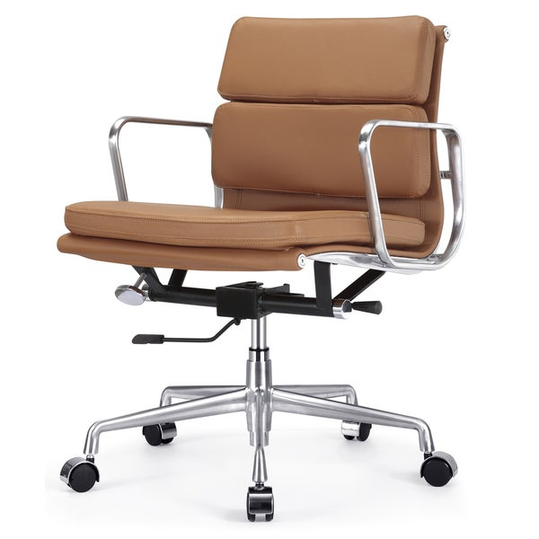 Tre Brown Italian Leather Office Chair