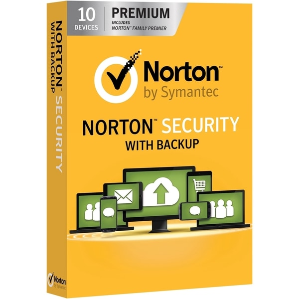 Norton Security with Backup - 1 year subscription, 10 Devices