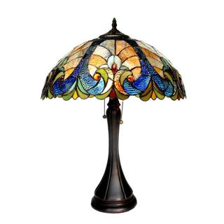 Chloe Tiffany Style Victorian Design 2-light Bronze Table Lamp