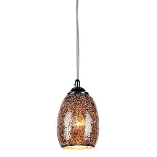 Chloe Mosaic Collection 1-light Tempered Glass/ Chrome Pendant
