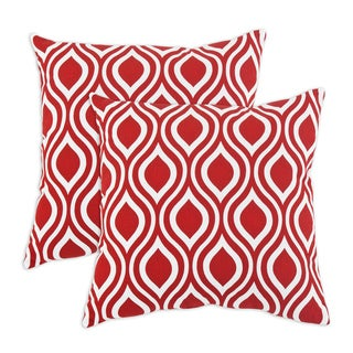 Nichole Lipstick 17-inch KE Fiber Throw Pillow (Set of 2)