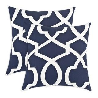 Morrow Blue 17-inch KE Fiber Throw Pillow (Set of 2)