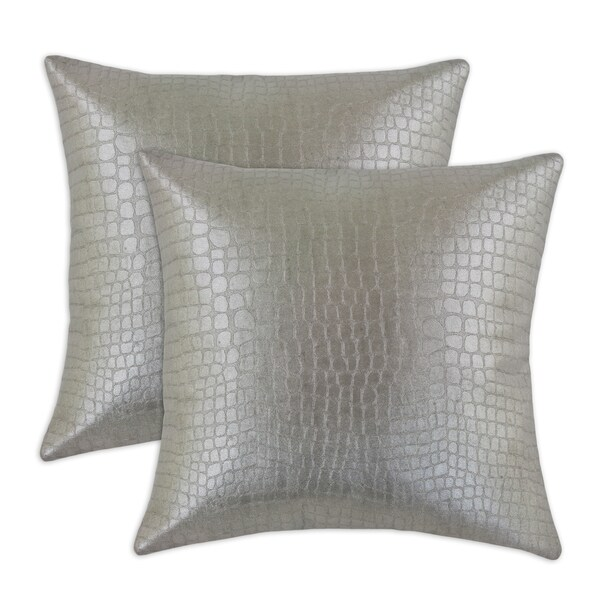 Glade Runner Steel 17-inch KE Fiber Throw Pillow (Set of 2)