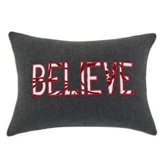 Fleece Believe Charcoal KE Fiber Throw Pillow