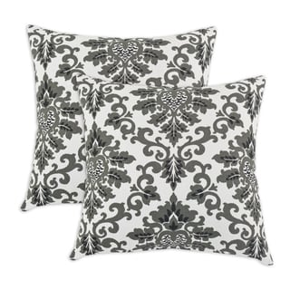 Cecilia Shadow Black 17-inch KE Fiber Throw Pillow (Set of 2)