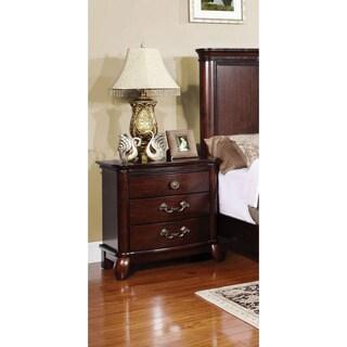 Furniture of America Sky Classic Cherry 3-Drawer Nightstand