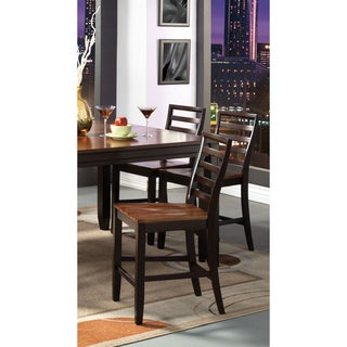 Furniture of America Isa Acacia and Espresso Counter Height Chairs (Set of 2)