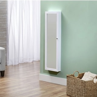 InnerSpace Over-the-Door / Wall-Hang / Mirrored / White Jewelry Armoire Collection