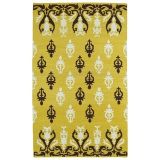 Hollywood Yellow Flatweave Rug (8'0 x 10'0)