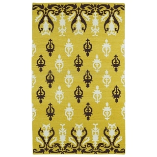 Hollywood Yellow Flatweave Rug (9'0 x 12'0)