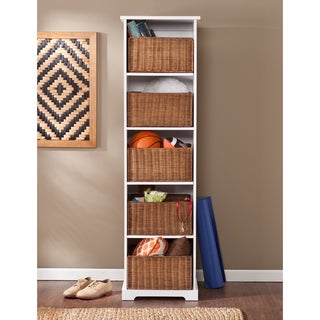 Upton Home Lima White Entryway Storage Cubby