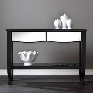 Upton Home Marion Black Mirrored Console Table
