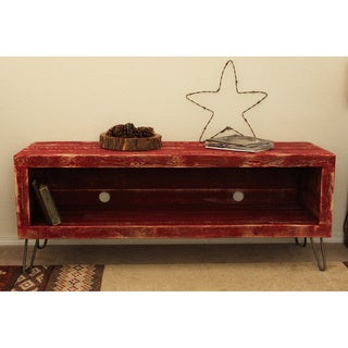 Red Reclaimed Wood 36-inch Media Console