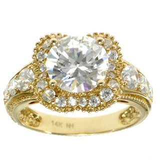 Michael Valitutti 14k Yellow Gold One-of-a-Kind Cubic Zirconia Ring