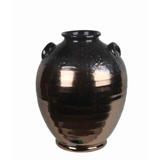 Large Ceramic Copper Jar