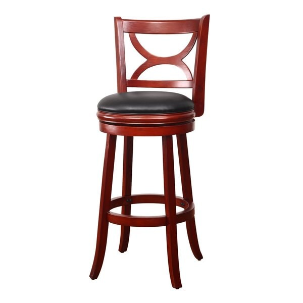 Adeco Walnut Color Wood Bar Style Curved Cross Back Chair  : Adeco Walnut Color Wood Bar Style Curved Cross Back Chair Swivel Base Leatherette Cushion c74d4b35 6055 4762 94b9 19c561941051600 from www.overstock.com size 600 x 600 jpeg 17kB