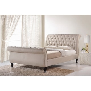 Baxton Studio Arran Light Beige Linen Platform Bed
