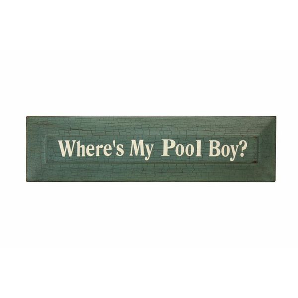 Where Is My Pool Boy Art Panel