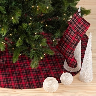 Classic Red And Black Buffalo Plaid Holiday Décor With Sherpa Trim