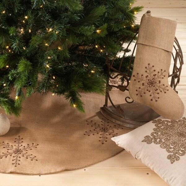 Beaded Snowflake Design Holiday Decor