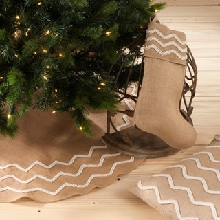 Beaded Design Burlap Holiday Decor