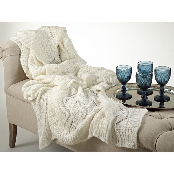 Mohair Design Throw Blanket
