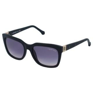 Roberto Cavalli Women's RC799S Albali 01B Black/ Grey Rectangle Sunglasses
