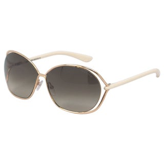 Tom Ford Women TF 157 Carla 28P Gold/ Ivory Round Sunglasses