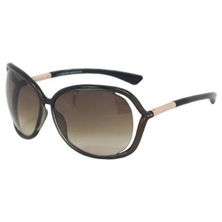 Tom Ford Women's TF76 Raquel U45 Olive Green Round Sunglasses