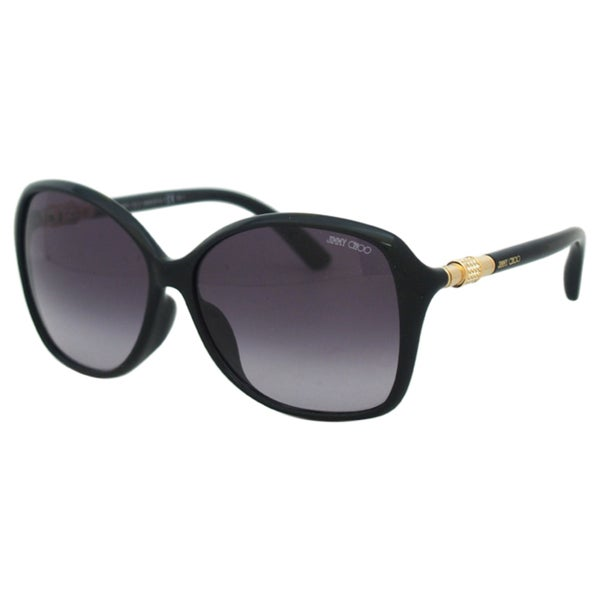 Jimmy Choo Women's Tina/F/S D28HD Shiny Black Square Sunglasses