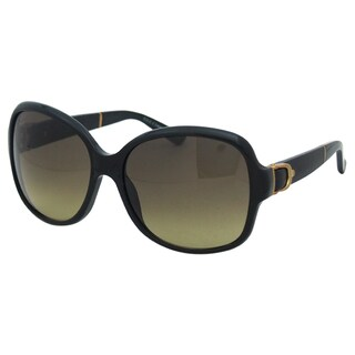 Gucci Women's GG 3638/S 75QED Black Leather Rectangle Sunglasses