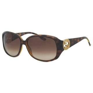 Gucci Women's 'Gucci 3578/S 791JD' Havana Rectangle Sunglasses