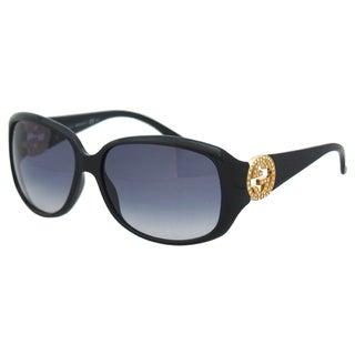 Gucci Women's 'Gucci 3578/S D28JJ' Shiny Black Rectangle Sunglasses