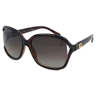 Gucci Women's 'Gucci 3646/S DWJHA' Havana Rectangle Sunglasses