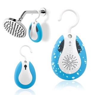 Gearonic Blue Mini Waterproof Wireless Bluetooth Shower Speaker and Hook