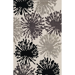 Atmosphere Multi Color Rectangular Wool Rug (5' x 7' 6)