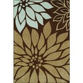 Napoli Chocolate Rectangular Nylon Rug (8'2 x 10')