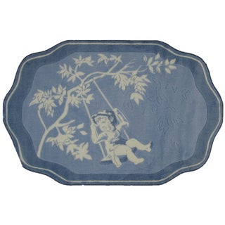 """Toile Blue/White Accent Rug - 3'3"""" x 4'8"""""""