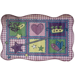Princess Blanket Multicolored Accent Rug (3'3 x 4'8 )