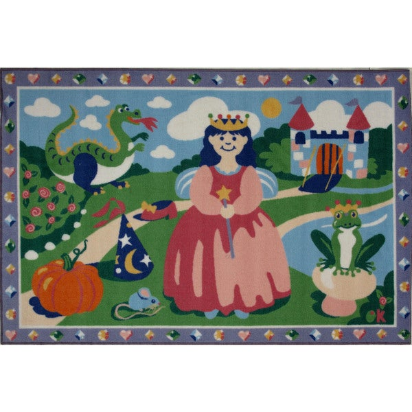 Happily Ever After Multicolored Accent Rug (3'3 x 4'8 )