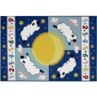 Sheep Multicolored Accent Rug (3'3 x 4'8 )