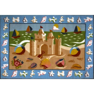 Beach House Multicolored Accent Rug (3'3 x 4'8 )