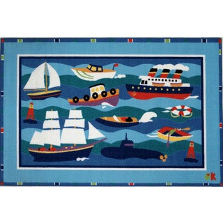 The Lake Multicolored Accent Rug (3'3 x 4'8 )