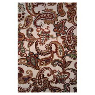 Paisley Multicolored Accent Rug ( 5' x 8')
