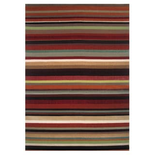 Stripe Multicolored Accent Rug (5'x 8')