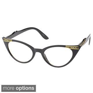 EPIC Eyewear 'Agoura' Cat-eye Clear-lens Fashion Sunglasses
