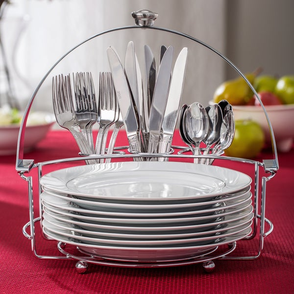Towle living 33 buffet with plates and flatware 16610053 overstock