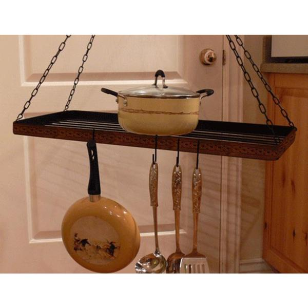 Rustic Iron Hanging Rack