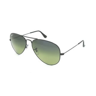 Ray Ban 'RB3025 002/76' Polarized Metal Aviator Sunglasses